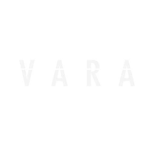 KAPPA K46NT Bauletto lt. 46 nero goffrato con catadiottri rossi